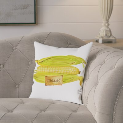 Gina Maher Midway Corn Throw Pillow Size: 18 H x 18 W x 2 D