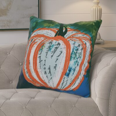 Ames Artistic Pumpkin Geometric Euro Pillow Color: Orange