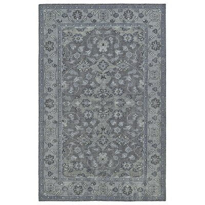 Eugenia Hand-Knotted Grey Area Rug Rug Size: 4 x 6
