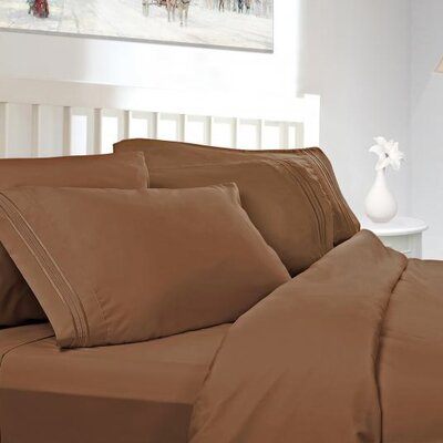 Gloria Deluxe Flannel Sheet Set Size: Full, Color: Mocha