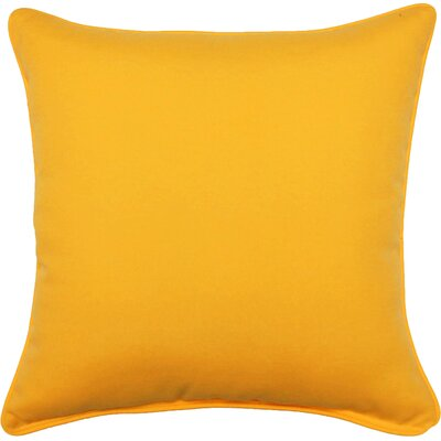 Gabin Outdoor Throw Pillow Color: Yellow