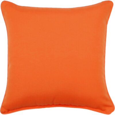 Gabin Outdoor Throw Pillow Color: Tango