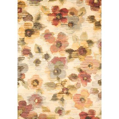 Gaelle Ivory/Rust/Yellow/Sage Area Rug Rug Size: 710 x 112