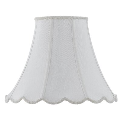 Piped 18 Fabric Bell Lamp Shade Finish: White