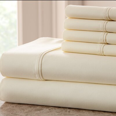 Grandin 1000 Thread Count Sheet Set Size: Queen, Color: Ivory