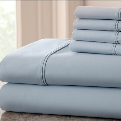 Hadrien 1000 Thread Count Sheet Set Color: Light Blue, Size: King
