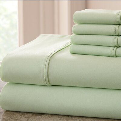 Hadrien 1000 Thread Count Sheet Set Color: Sage, Size: Queen