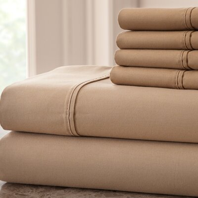 Hadrien 1000 Thread Count Sheet Set Color: Taupe, Size: Queen