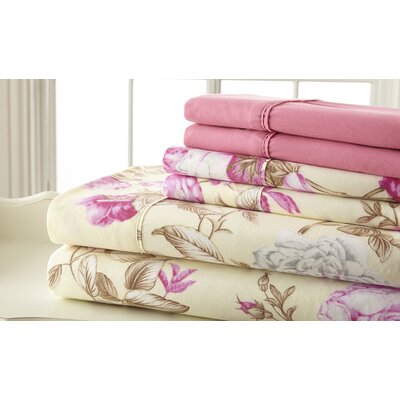 Hyacinthe Sheet Set in Pink Size: King