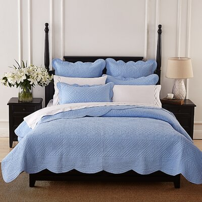 Lafollette Luxury Quilt Size: King, Color: Light Blue