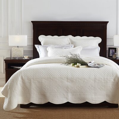 Lafollette Luxury Quilt Size: Queen, Color: Ivory