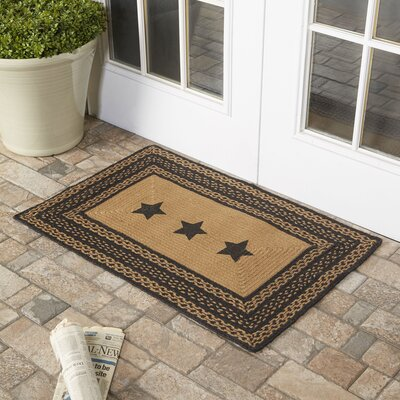 Saco Black/Tan Area Rug Rug Size: 2' x 3'