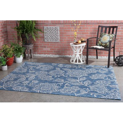 Stephane Transitional Indigo Indoor/Outdoor Area Rug Rug Size: Rectangle 710 x 103