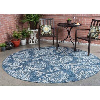 Stephane Transitional Indigo Indoor/Outdoor Area Rug Rug Size: Runner 27 x 73