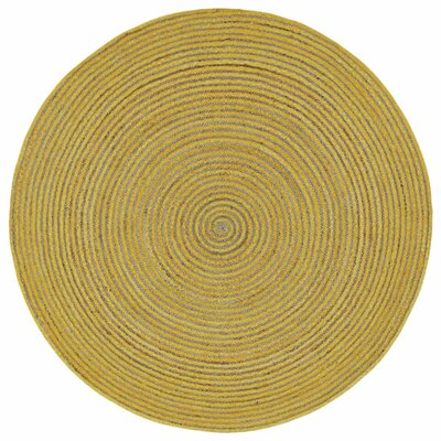Latour Hand-Loomed Yellow Area Rug Rug Size: 5 x 8