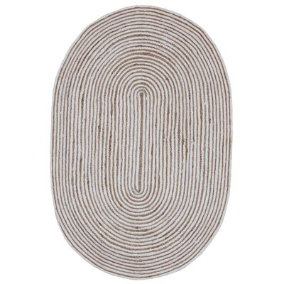 Latour Hand-Loomed Natural Area Rug Rug Size: Rectangle 5 x 8