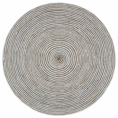 Latour Hand-Loomed Natural Area Rug Rug Size: Round 6