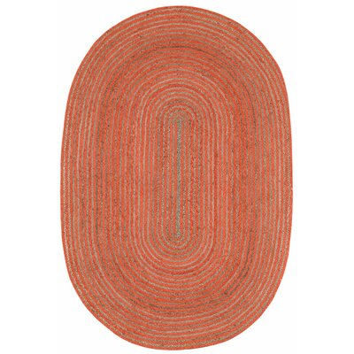 Latour Hand-Loomed Orange Area Rug Rug Size: 5 x 8