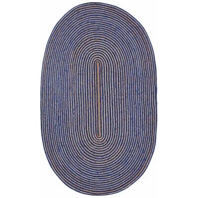 Latour Hand-Loomed Blue Area Rug Rug Size: 4 x 6