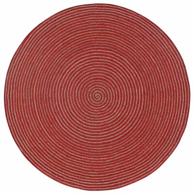 Latour Hand-Loomed Red Area Rug Rug Size: Round 8
