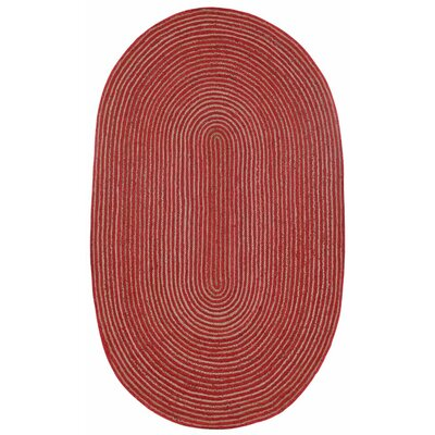Latour Hand-Loomed Red Area Rug Rug Size: 4 x 6
