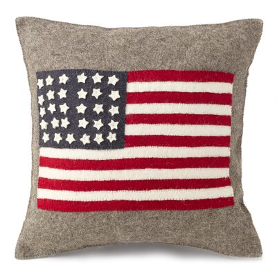 Lebeau American Flag Hand Felted Wool Pillow Cover