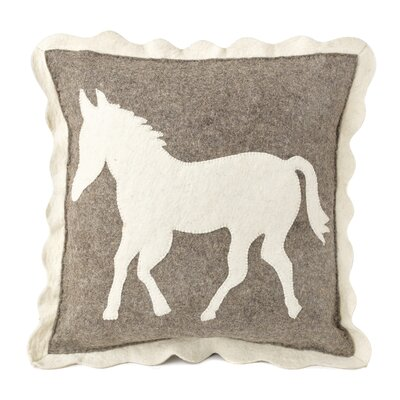 Horse Hand Felted Wool Pillow Cover