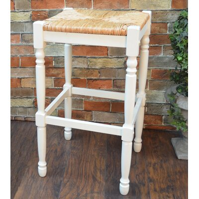 Emilia 29 Bar Stool Color: Antique White