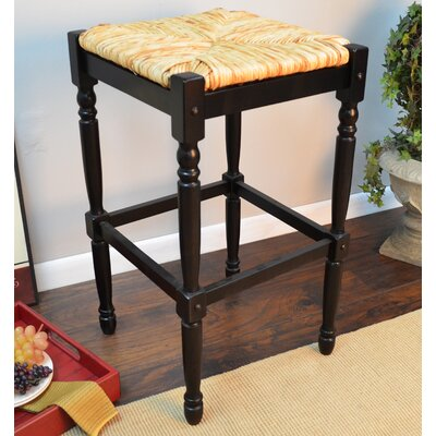 Emilia 29 Bar Stool Color: Antique Black