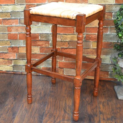 Emilia 29 inch Bar Stool Finish: Chestnut