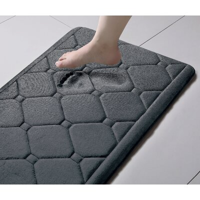 Javier Memory Foam Bath Rug Color: Gray