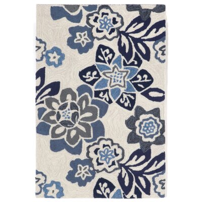 Dazey Blue/White Outdoor Area Rug Rug Size: 2 x 3