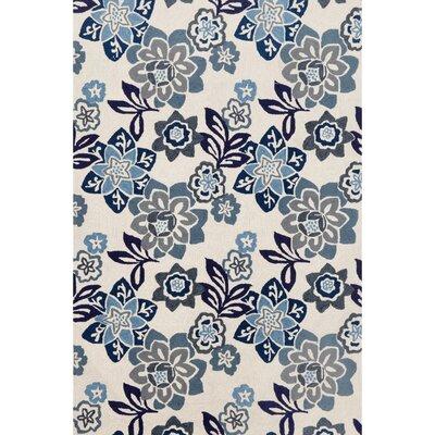Dazey Blue/White Outdoor Area Rug Rug Size: Rectangle 5 x 76