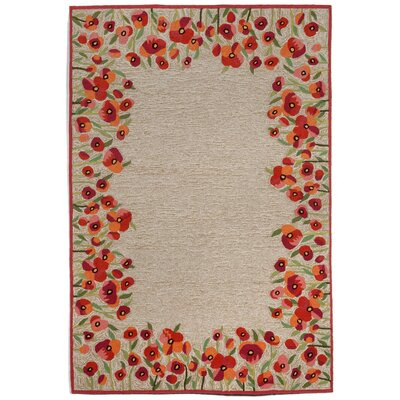 Dazey Hand-Tufted Red Indoor/Outdoor Area Rug Rug Size: 76 x 96