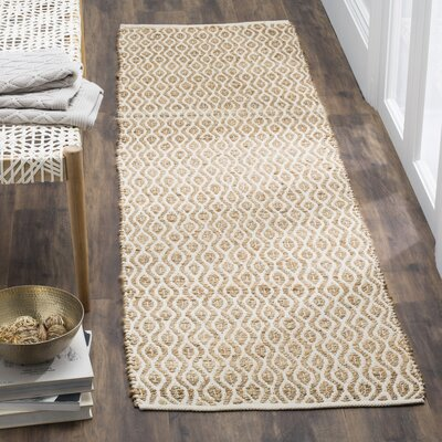 Zap Hand-Woven Natural Area Rug Rug Size: Runner 23 x 8