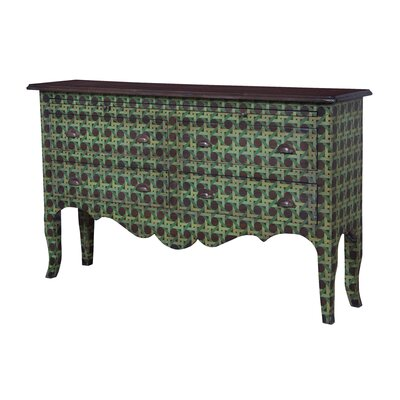Montcalm Intricate 4-Drawer Sideboard