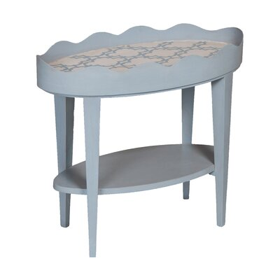 Authier Scallop Oval End Table