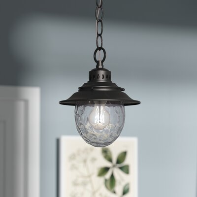 Avon 1-Light Foyer Pendant Color: Weathered Charcoal