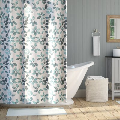 Autumn Cotton Shower Curtain Color: Teal