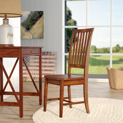 Biermann Solid Wood Dining Chair Finish: Chestnut