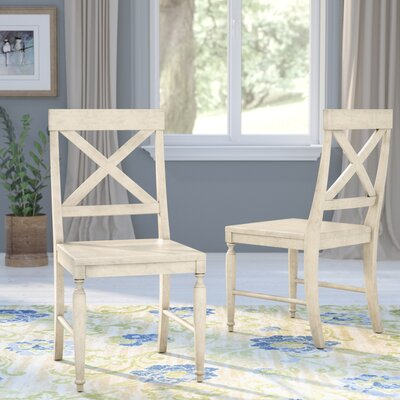 Liza Solid Wood Dining Chair Finish: Antique White