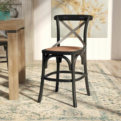 Madelynn 24.4 inch Bar Stool Frame Finish: Hickory