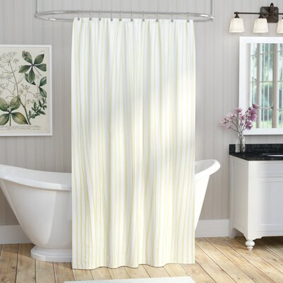 Cotton Shower Curtain Color: Light Green