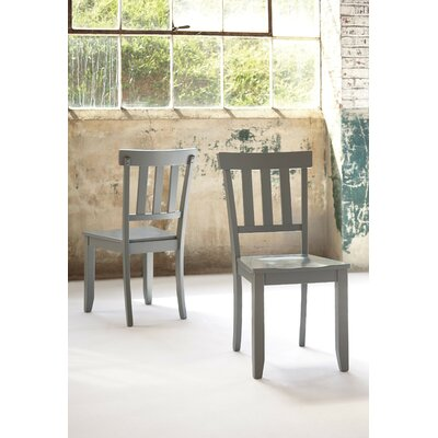 Jessamine Solid Wood Dining Chair (Set of 2) Finish: Gray