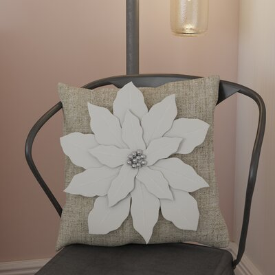 Savanah Throw Pillow Color: White
