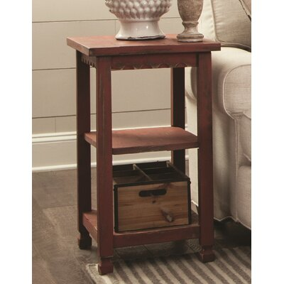Mangum 2 Shelf End Table Color: Red