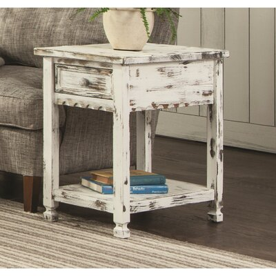 Bernardsville End Table Finish: White