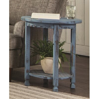 Mangum Heights Round End Table Color: Blue