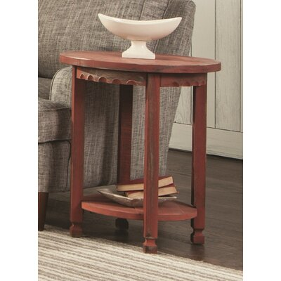 Bernardsville Heights Round End Table Finish: Red