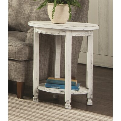Bernardsville Heights Round End Table Finish: White